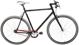 KS Cycling Fahrrad Fitness-Bike Single Speed Essence RH 56 cm, Schwarz, 28, 397B -