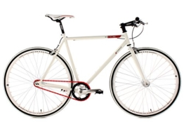 KS Cycling Fahrrad Fitness-Bike Single Speed Essence RH 56 cm, Weiß, 28, 390B -