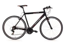KS Cycling Fahrrad Fitnessbike Alu Lightspeed RH 60 cm, Schwarz, 28, 203B -