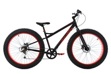 KS Cycling Herren Mountainbike Fatbike Fahrrad, Schwarz-Rot, 26 -