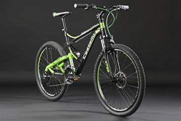 KS Cycling Herren Mountainbike Fully Castello Htx Fahrrad, Schwarz-Grün, 26 -