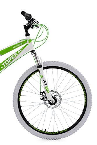 KS Cycling Herren Mountainbike Fully Topeka RH 44 cm Fahrrad, Weiß-Grün, 26 -