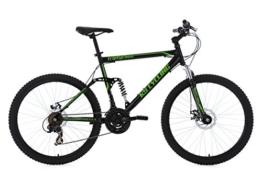 KS Cycling Herren Mountainbike Mtb Fully Triptychon RH 51 cm Fahrrad, Schwarz-Grün, 26 -