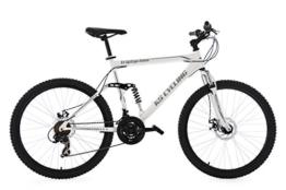 KS Cycling Herren Mountainbike Mtb Fully Triptychon RH 51 cm Fahrrad, Weiß, 26 -