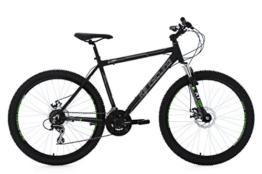 KS Cycling Herren Mountainbike Mtb Xceed RH 53 cm Fahrrad, Schwarz, 26 -