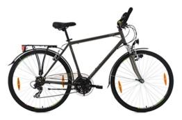 KS Cycling Herren Trekkingrad Nevada Anthrazit RH 54 cm Multipositionslenker Fahrrad, Dark Bronze, 28 Zoll -