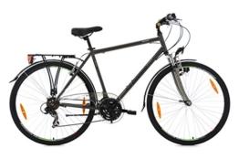 KS Cycling Herren Trekkingrad Nevada Anthrazit RH 58 cm Flachlenker Fahrrad, Dark Bronze, 28 Zoll -