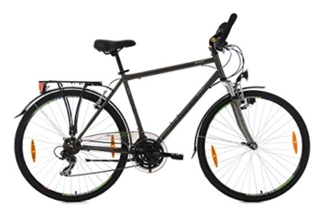 KS Cycling Herren Trekkingrad Nevada Anthrazit RH 58 cm Multipositionslenker Fahrrad, Dark Bronze, 28 Zoll -