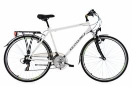 KS Cycling Herren Trekkingrad Vegas RH 58 cm Flachlenker Fahrrad, Weiß, 28 -