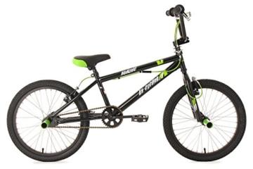 KS Cycling Jungen Fahrrad BMX Freestyle Hedonic, Schwarz, 20, 592B -