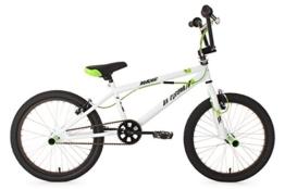 KS Cycling Jungen Fahrrad BMX Freestyle Hedonic, Weiß, 20, 593B -