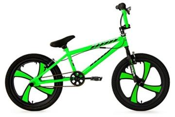 KS Cycling Jungen Fahrrad BMX Freestyler Cobalt, Grün, 20, 522B -