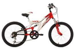 KS Cycling Jungen Fahrrad Kinderfahrrad Mountainbike Fully Zodiac, Weiß, 20, 601K -