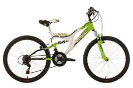 KS Cycling Jungen Fahrrad Kinderfahrrad Mountainbike Fully Zodiac, Weiß, 24, 602K -
