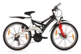 KS Cycling Kinder Fahrrad Mountainbike Atb 4 Masters RH 42 cm, Schwarz, 24, 837B -