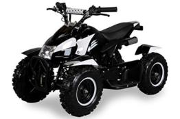 Miniquad Kinder ATV Cobra 49 cc Pocketquad 2-takt Quad ATV Pocket Quad Kinderquad Kinderfahrzeug schwarz/weiss -