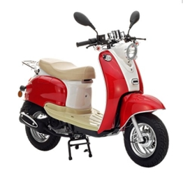 Motorroller Nova Motors Retro Star 50 rot-weiß - 45km/h -