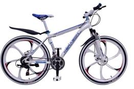 "Mountainbike 26"" Zoll Herren/MTB/All Mountain,Cravog 21 Gang Fahrrad Alu Aluminium Rahmen Mag Wheels Hardtail V-Bremse (weiß-brau) -"