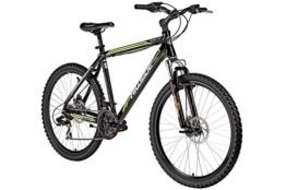 Mountainbike 26 Zoll Shark 2.0 von Hillside in schwarz MTB Fahrrad Scheibenbremsen 21 Gang Schaltung 20 Zoll RH -
