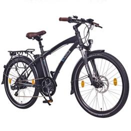 "NCM Essen,26"" Zoll Elektrofahrrad Herren/Damen Unisex Pedelec,E-Bike,City Rad, 36V 250W 13Ah Lithium-Ionen-Akku mit 468Wh, matt schwarz -"
