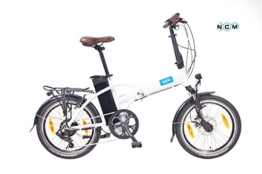 NCM London Elektrofahrrad,E-Bike,Pedelec 20 Zoll Faltrad,Klapprad, 36V 250W Motor, 36V 13Ah (=468Wh) Akku mit hochwertigen SAMSUNG Zellen! in weiß/white -