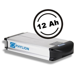 Phylion Akku XH370-10J für E-Bike Pedelec 37V 12Ah für u.a. MiFa, Rex, Prophete (D) -