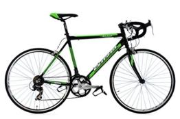 Rennrad 26'' Elite schwarz-grün Alu-Rahmen RH 53 cm -