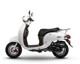 Retro Roller CityCruiser 50 49 perlweiß Motorroller Scooter Moped Mofa Cruiser weiß -