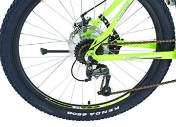 REXBike Jungen Mountainbike REX Alu-MTB 27.5 Zoll 650B Bergsteiger 6.4, lemon matt, 50, 51586-3111 -
