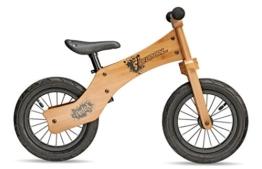 S'COOL Kinder Pedex One Lernlaufrad, Wood, 12 Zoll -