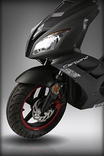 Sport Roller Carbono 25 km/h Mofa schwarz matt Motorroller Scooter Moped Sportroller -