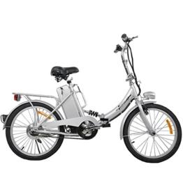 """TOOCO Elektro Klapprad 20"""" (51cm) Pedelec Elektrofahrrad Ebike E-Bike Fahrrad (Silber) -"""