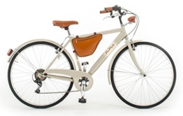 Via Veneto By Canellini Fahrrad Rad Citybike CTB Herren Vintage Retro Cafè Race Stahl Grau -