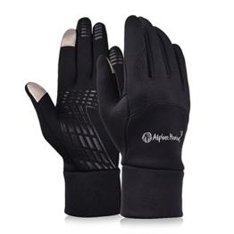 Alando Winter Touchscreen Handschuhe Unisex Sporthandschuhe Winddichte Fahrradhandschuhe Winterhandschuhe mit Touchscreen-Funktion (Vintage-Schwarz, M) -