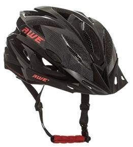 AWE® AWEAirTM In-Mould Helm Erwachsene Männer Straßen-Radsport 58-61cm Schwarz-rot-Carbon -