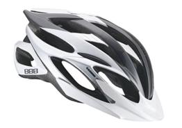 BBB Helm Everest BHE-02 Gr. M grau-weiss-silber, mit weißem Visier - MTB -