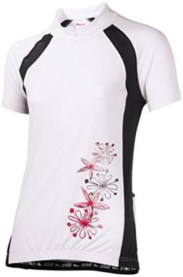 CRIVIT® Damen Fahrrad-T-Shirt, TOPCOOL Funktionsfaser (Gr. M 40/42, weiß/schwarz) -