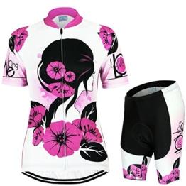 [ Damen Kurzarm Radbekleidung Set ] 2016 Fashion Damen Trikot Set Kurzarm Trikot Fahrradbekleidung Fahrradtrikot Fraun Trikot Atmungsaktiv Schnell Rocknend Kurzarmtrikot -iisport® -
