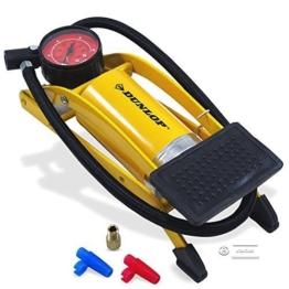 Dunlop Luftpumpe Fußpumpe Fahrradpumpe Autopumpe Manometer Profi Pumpe -