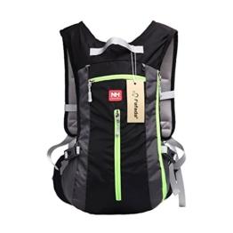 Fafada 15L Damen Herren Wasserdicht Trekking Fahrradrucksack Atmungsaktiv Backpack Schulter Rucksack für Radfahren Bergsteigen Schwarz -