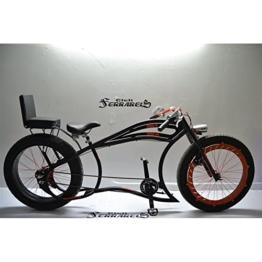 Fahrrad Cruiser Custom Italien Tandem Custom Schwarz Orange -