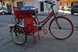 Fahrrad siderbike Tandem Riscio rot weiß grau schwarz 3Sitzer -