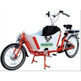 Fahrrad Tandem Cargo Custom Transport Menschen und Dinge grün weiß und schwarz -