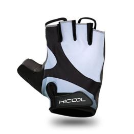 Fahrradhandschuhe, HiCool Fahrradhandschuhe Fitness- und Trainingshandschuhe Fitness Handschuhe Radsporthandschuhe Half Finger Outdoor Sports für Damen und Herren -