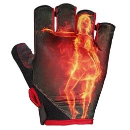 Fahrradhandschuhe, HiCool Profi Radhandschuhe Radsporthandschuhe Fitnesshandschuhe Trainingshandschuhe Fitness-Handschuhe Trainings Handschuhe (L) -