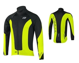 Force Herren Thermo Fahrradjacke, Winter Fahrradjacke, verschiedene Farben (schwarz/neongelb, m) -