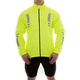 Herren Radjacke windproof spritzwassergeschützt thermische hohe Sichtbarkeit reflektierende gelb von OpenRoad Sports -