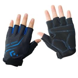 Hicool Fahrradhandschuhe Fitness- und Trainingshandschuhe Halb Finger Radsporthandschuhe Handschuhe für Herren und Damen - Ideal gloves für Radsport, Camping und mehr Sports im Freien (Blau, L) -