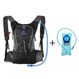 Hydration Rucksack Trinkrucksack(12L) mit Trinkblase(2L) Pack,Trinksystem Backpack Ideal für MTB Fahrrad Radfahren, Wandern, Laufen, Camping , für Reisen Klettern Outdoor Sports -