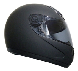 Integralhelm Helm Motorradhelm RALLOX 510-1 schwarz/matt (S, M, L, XL, XXL) Größe L -